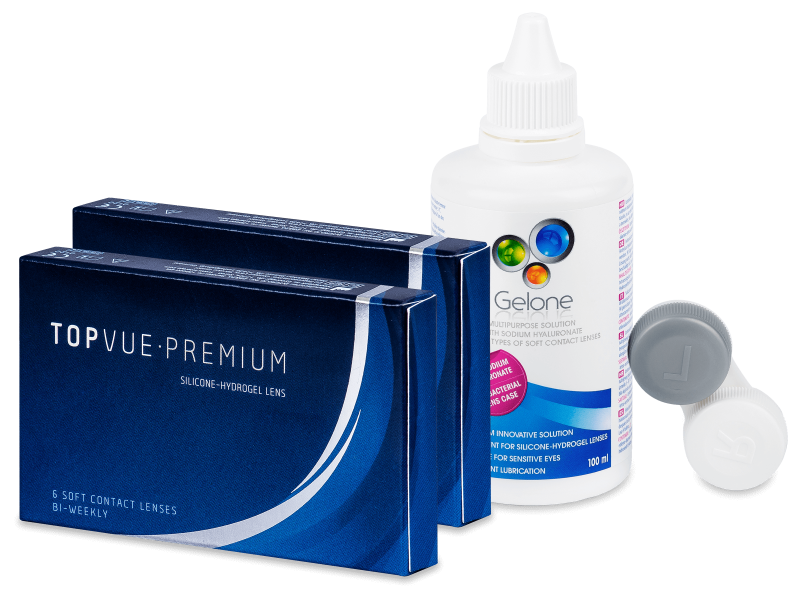 TopVue Premium (2 x 6leč) + tekočina Gelone 100 ml - Package deal