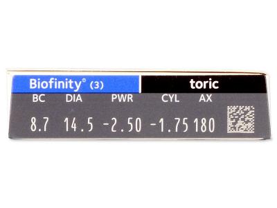 Biofinity Toric (3 leče) - Predogled lastnosti