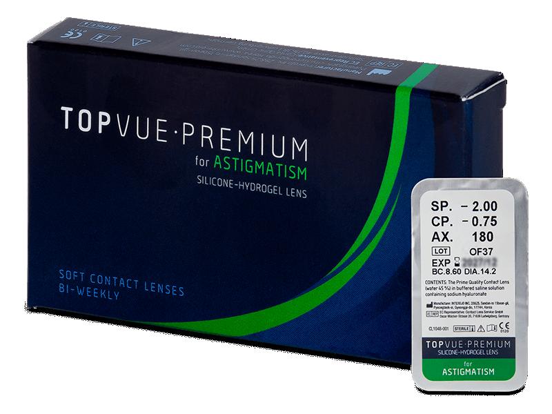TopVue Premium for Astigmatism (1 leča) - Torične kontaktne leče