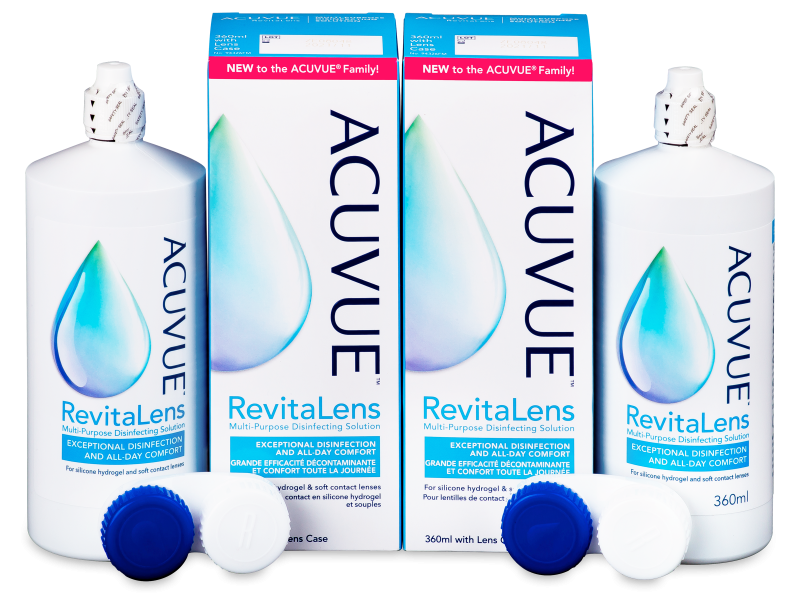 Tekočina Acuvue RevitaLens 2x 360 ml  - Economy duo pack- solution