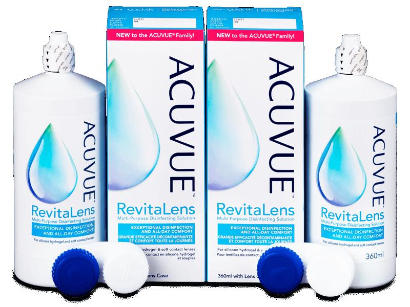 Tekočina Acuvue RevitaLens 2x 360 ml  - Ekonomično dvojno pakiranje tekočine