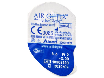 Air Optix plus HydraGlyde (6 leč) - Predogled blister embalaže