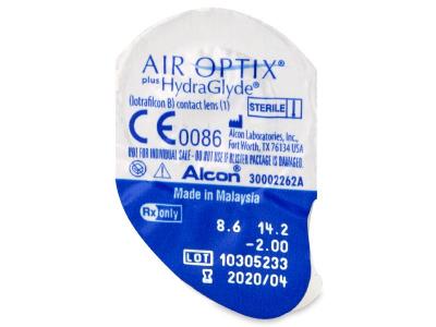 Air Optix plus HydraGlyde (3 leče) - Predogled blister embalaže