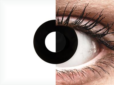 CRAZY LENS - Black Out - dnevne leče z dioptrijo (2 leči)