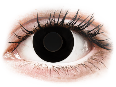 CRAZY LENS - Black Out - dnevne leče brez dioptrije (2 leči)