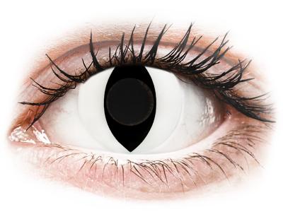 CRAZY LENS - Cat Eye White - dnevne leče brez dioptrije (2 leči)