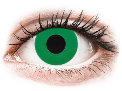 CRAZY LENS - Emerald Green - dnevne leče z dioptrijo (2 leči)