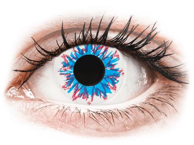 CRAZY LENS - Harlequin - dnevne leče brez dioptrije (2 leči)