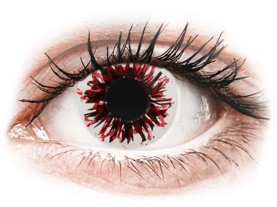 CRAZY LENS - Harlequin Black - dnevne leče brez dioptrije (2 leči)