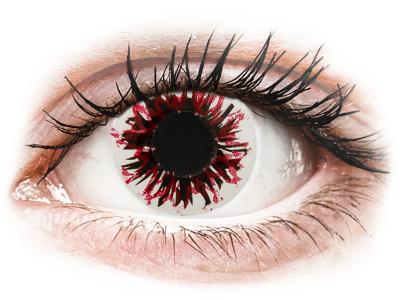 CRAZY LENS - Harlequin Black - dnevne leče z dioptrijo (2 leči)
