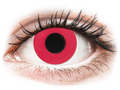 CRAZY LENS - Solid Red - dnevne leče brez dioptrije (2 leči)