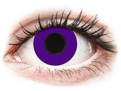 CRAZY LENS - Solid Violet - dnevne leče z dioptrijo (2 leči)
