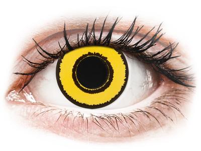 CRAZY LENS - Yellow Twilight - dnevne leče z dioptrijo (2 leči)
