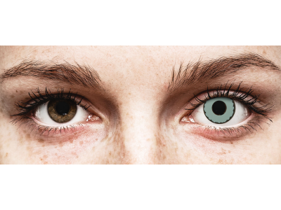 CRAZY LENS - Zombie Virus - dnevne leče z dioptrijo (2 leči)