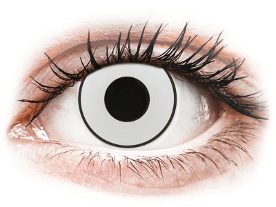 CRAZY LENS - White Black - dnevne leče z dioptrijo (2 leči)