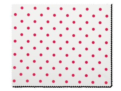 Čistilna krpica za očala - Rdeče pike