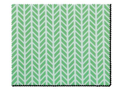 Čistilna krpica za očala - Zeleno bela