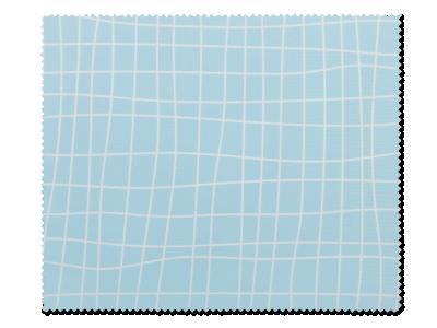 Čistilna krpica za očala - Svetlo modra mreža