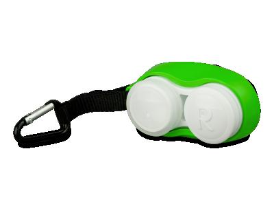 Zelena škatlica za leče z vponko