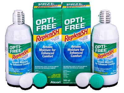 Tekočina OPTI-FREE RepleniSH 2x300ml  - Economy duo pack- solution