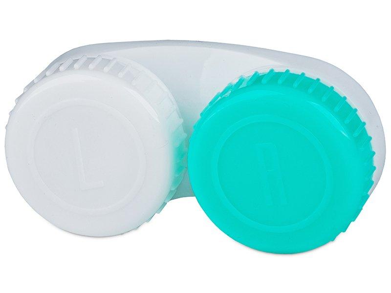 Škatlica za leče zeleno-bela