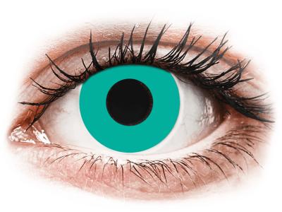 CRAZY LENS - Solid Turquoise - dnevne leče brez dioptrije (2 leči)
