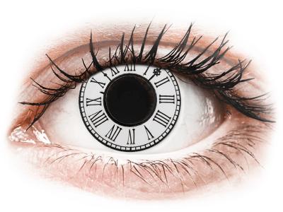 CRAZY LENS - Clock - dnevne leče brez dioptrije (2 leči)