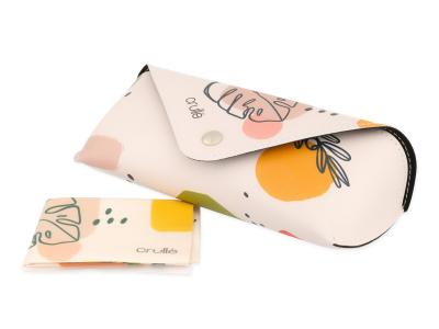 Etui Crullé s čistilno krpico - Pastelna rastlina