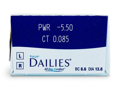 Focus Dailies All Day Comfort (30leč) - Predogled lastnosti