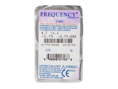 FREQUENCY XCEL TORIC (3leče) - Predogled blister embalaže