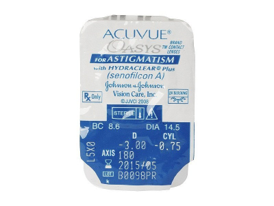 Acuvue Oasys for Astigmatism (6leč) - Predogled blister embalaže