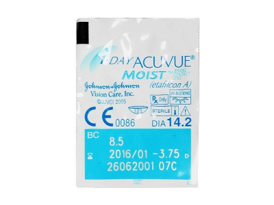 1 Day Acuvue Moist (90leč) - Predogled blister embalaže