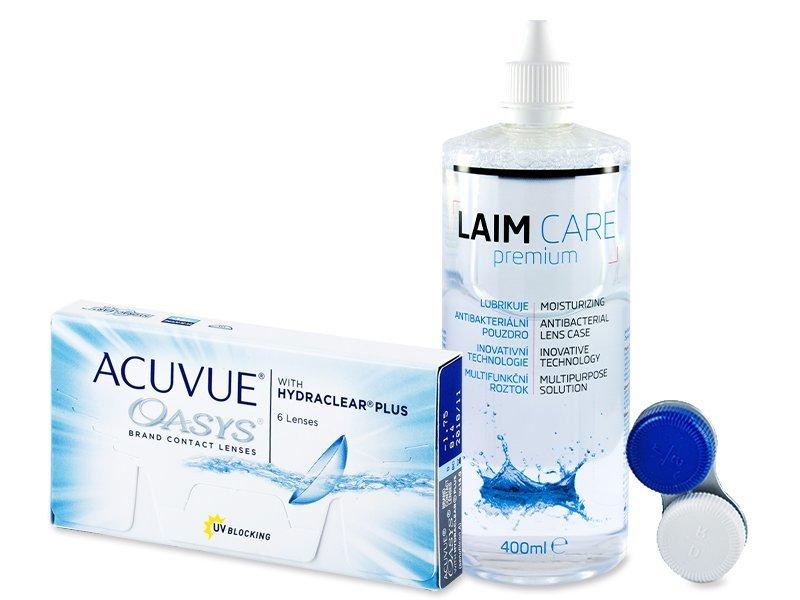 Acuvue Oasys (6leč) + tekočina Laim-Care 400 ml - Package deal