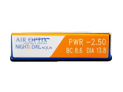 Air Optix Night and Day Aqua (3leče) - Predogled lastnosti